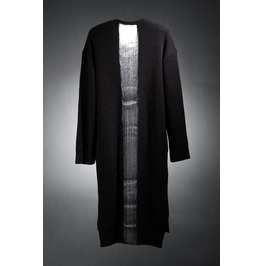 Handpainting Vertical Line Long Knit Cardigan