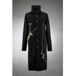 Graph Point Knit Long Coat