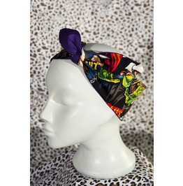 Horror Fabric Head Scarf Purple Reverse