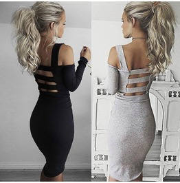 Bandage Bodycon Long Sleeve Evening Sexy Party Cocktail Mini Dress