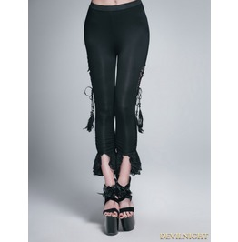 Black Unique Design Gothic Legging For Women