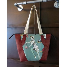 Zombie Pin Up Girls Valley Tote With Cork Sides And Accents