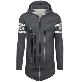 Men's Multi Zipper Hooded Jacket