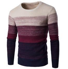 Men's Gradient Stripes Pullover