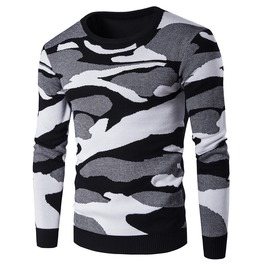 Men's Contrast Camouflage Pullover
