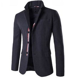 Men's Turn Down Collar Single Breasted Suit Jacket
