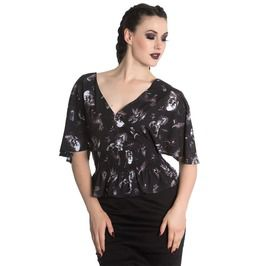 bf4584b577f Taxidermy Spin Doctor Kimono Top W Skulls Blackbirds Stags Eyes Insects.