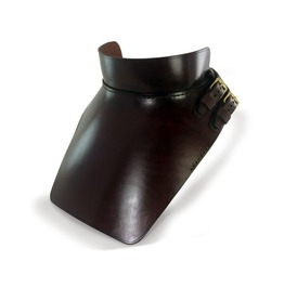 Leather Gorget Dark Brown