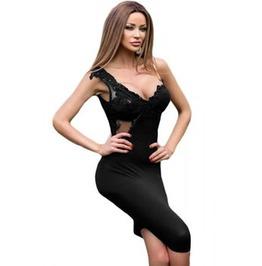 Sexy Black One Shoulder Stretch Mini Dress