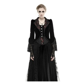 Women's Gothic Steampunk Victorian Black Vintage Coat Jacket