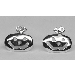 Pumpkin Cufflinks Sterling Silver