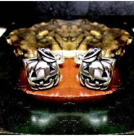 Jack O Lantern Cufflinks Sterling Silver