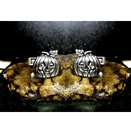 Goofy Jack O Lantern Cufflinks Sterling Silver