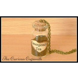 Emergency Tea Bottle Necklace