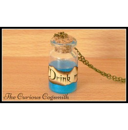 Drink Me Potion Bottle Necklace