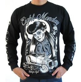 Eight Monday Shirt Vintage Mortorcycle Kulture Custom Cars Cafe Racer Em34