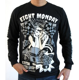 Eight Monday Rockabilly Men's Shirt Custom Cars Hot Rod Cafe Racer Em35