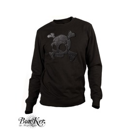 Embroidered Skull Sweatshirt / Various Leather Available