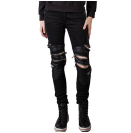 Unisex Bondage Pant Leather Knees