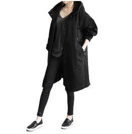 Black Oversized Raincoat