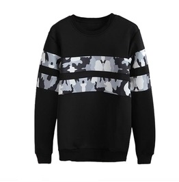 Black Sweatshirt Camo Detail