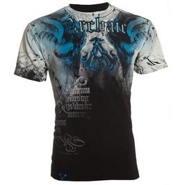 Men,S New Nightwatcher Skull Biker T Shirt