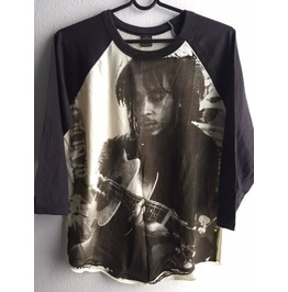 Bob Marley T Shirt 3/4 Long Sleeve Baseball Pop Rock T Shirt M