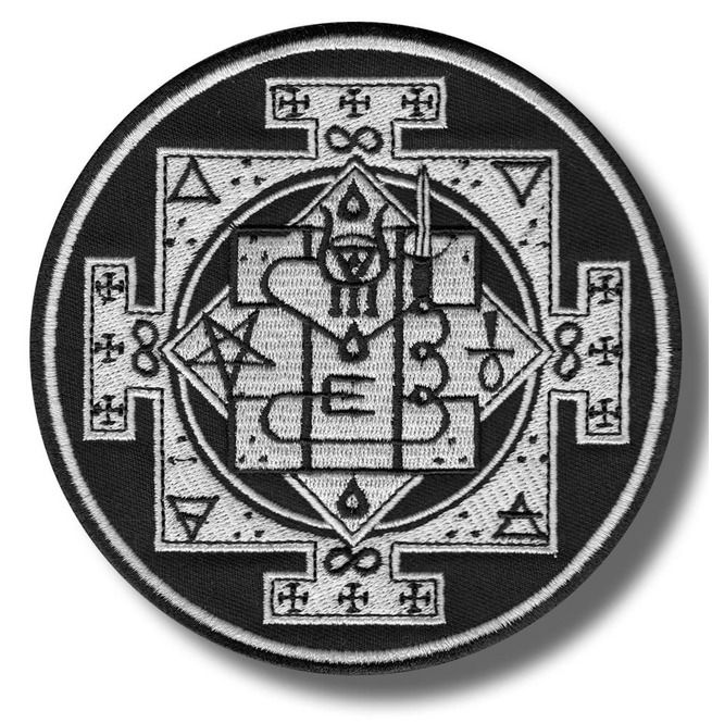 embroidered patch 8x8 cm Sigil of Bune