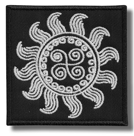 Celtic Sun Symbol Embroidered Patch, 3,2 X 3,2 Inch
