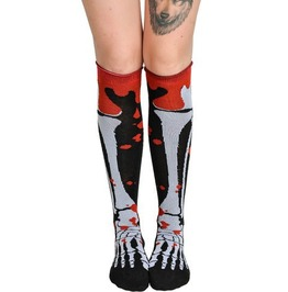 Too Fast Blood And Bone Rolled Knee Socks