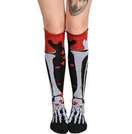 Too Fast Blood And Bone Rolled Knee Socks