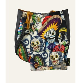 Sugar Skull Multi Shoulder Charla Purse With Wallet