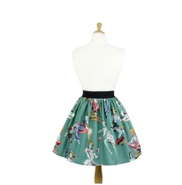 """""""Lindy"""" Green Pinup Zombie Skirt"""