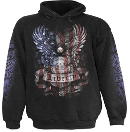 Men New Black Liberty Usa Eagle Flag Hoody