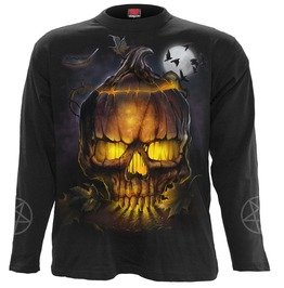Men,S New Horror Black Gothic Crow Longsleeve T Shirt