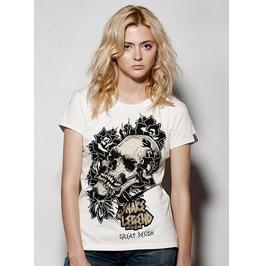 Skull With Roses Snake Legend Women T Shirt