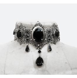 Black Swarovski Gothic Choker