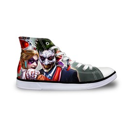 Joker Shoes High Top Canvas Shoes Women Men Casual Batman Shoes Cartoon New