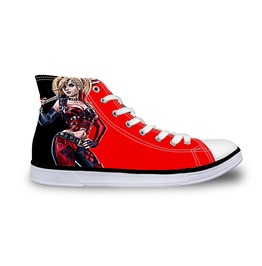 Funny Harley Quinn Shoes High Top Shoes Women Men Casual Batman Shoes