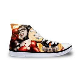 Funny Harley Quinn Shoes High Top Shoes Women Shoes Men Shoe Casual Shoes