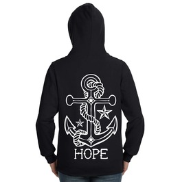 Hope Anchor Lightweight Zip Hoodie