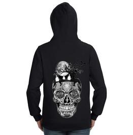 Skull Graveyard Lightweight Zip Hoodie