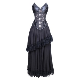 Midnight Malevolent Maelstrom Corset Dress