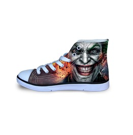 Joker Shoes High Top Shoes Women Men Shoes Casual Batman Shoes Cartoon Shoe