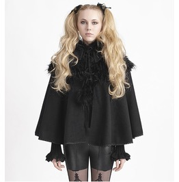 Punk Rave Pyon Pyon Lolita Black Winter Hooded Cape Coat Ly 050