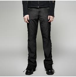 Punk Rave Gothic Men's Lace Up Ultra Wide Leg Trousers K 270