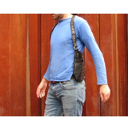 One Leaf Leather Holster Shoulder Bag Black And Brown Sentinel