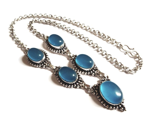 Enchanting 925 Silver Blue Cats Eye Necklace_Necklaces_2.jpg