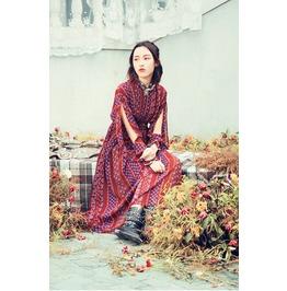 Designer 2017 Spring Summer Bohemian Style Dress