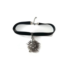 Velvet Ribbon Choker With Anti Possession Charm